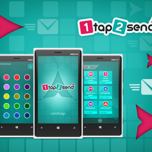 Core77 finalist - Apps - Portfolio 1tap2send app