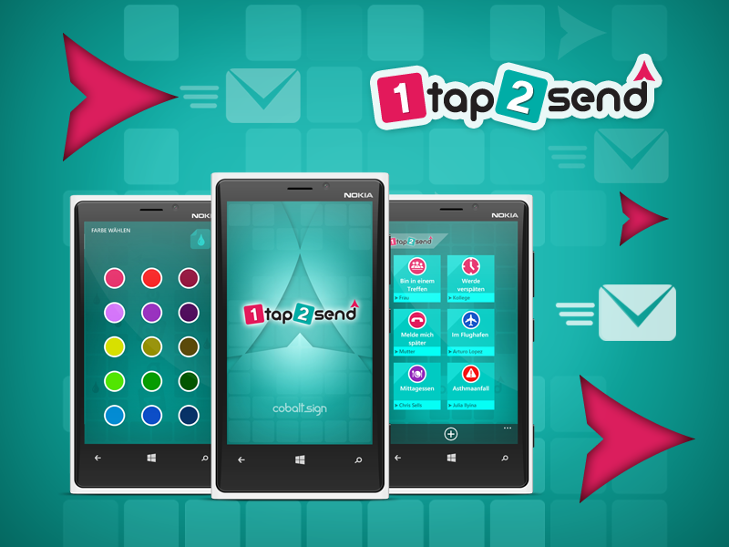 1tap2send, our Core77 finalist!