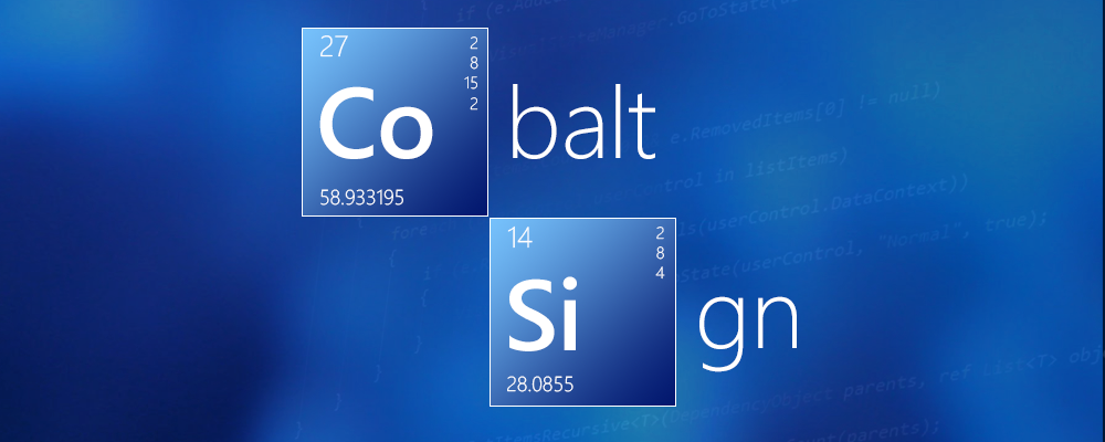 Cobalt Element & Cobalt Sign