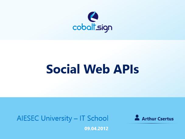 Social Web APIs Training