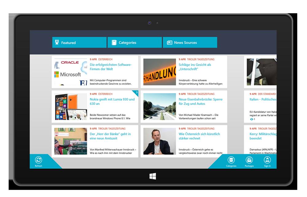 Newscron app W8