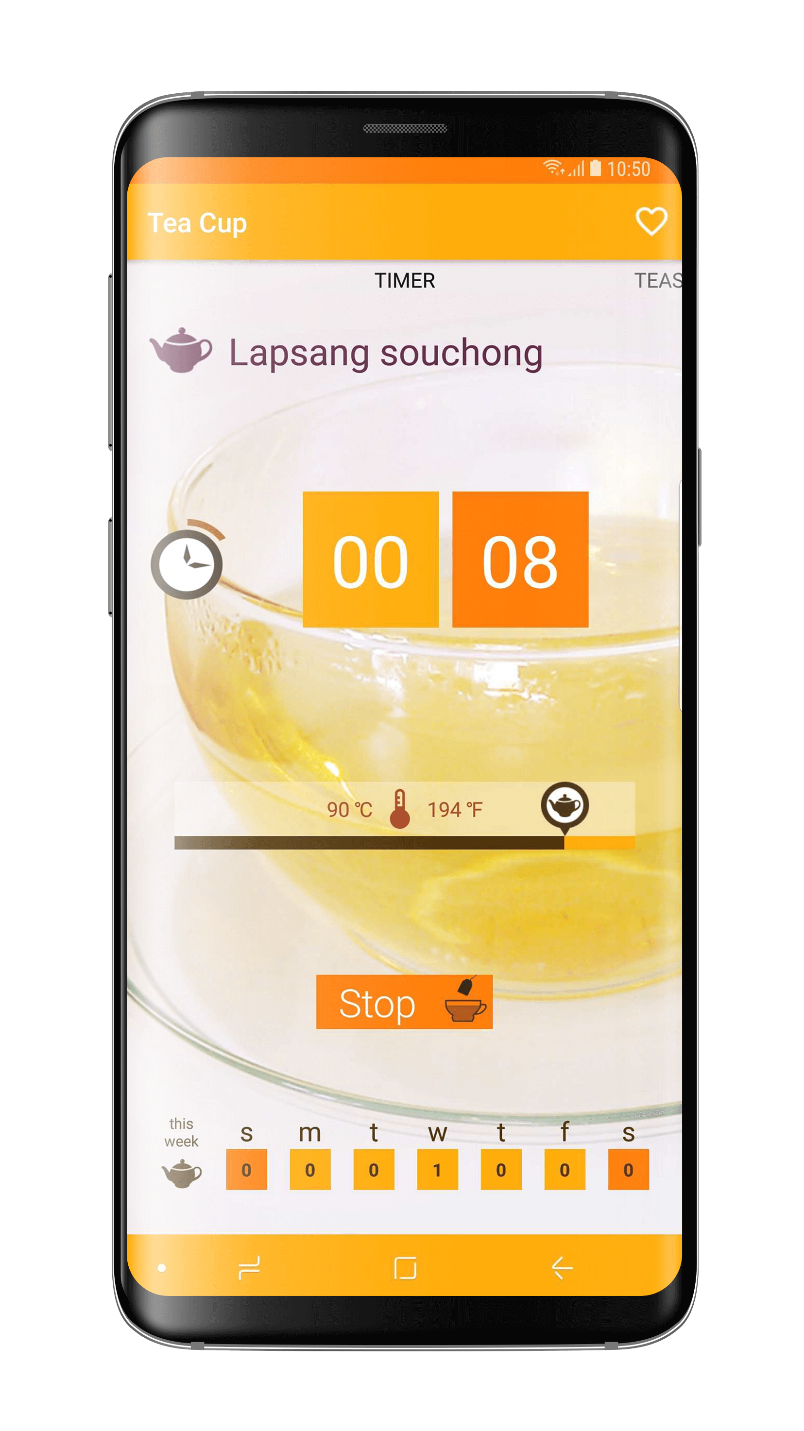 TeaCup - Beautidul and easy to use tea timer app