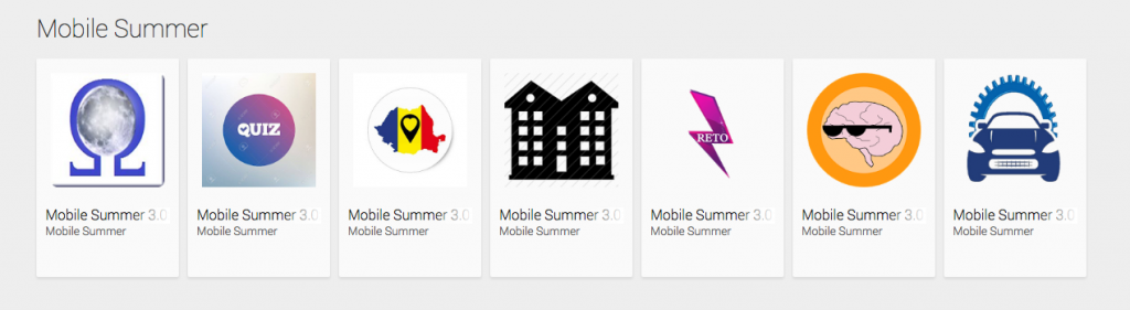 playstore Mobile Summer - apps and awards