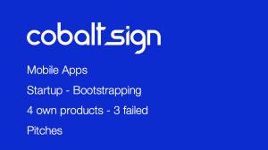 Slide Cobalt Sign Startup