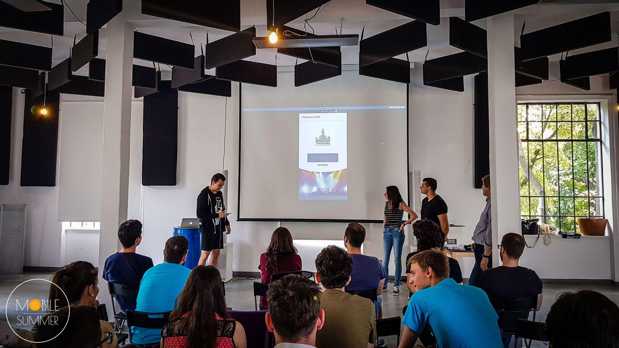 Mobile Summer 4.0 - city apps - app presentations - team fitt timisoara