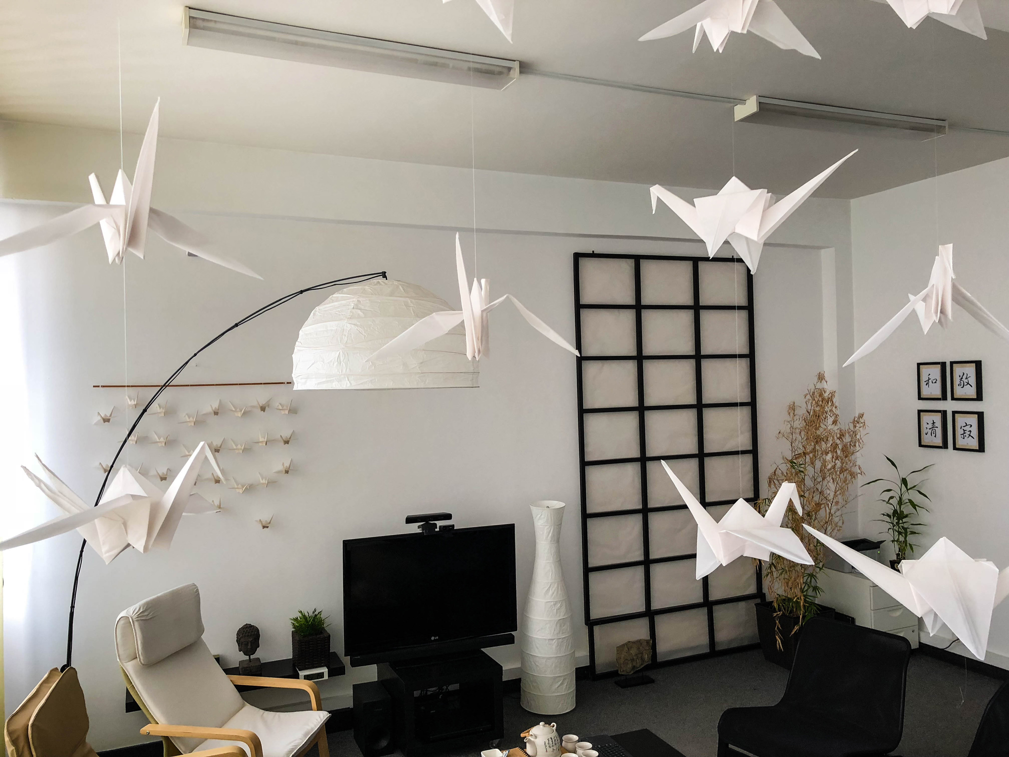 The History of the Origami Cranes Hanging in Our Office