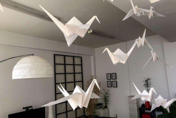 Cobalt-Sign-Origami-Cranes-Zen-Room