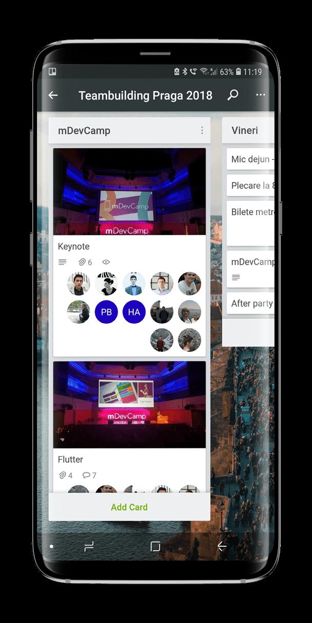 Cobalt Sign Teambuilding Prague - Mobile App Conference mDevCamp ---Trello