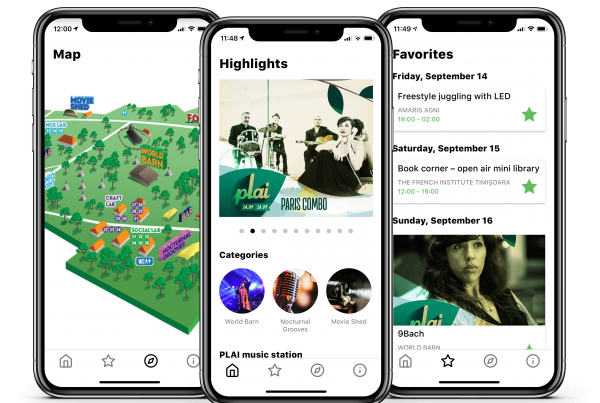 Freshly Designed Apps for PLAI Festival 2018