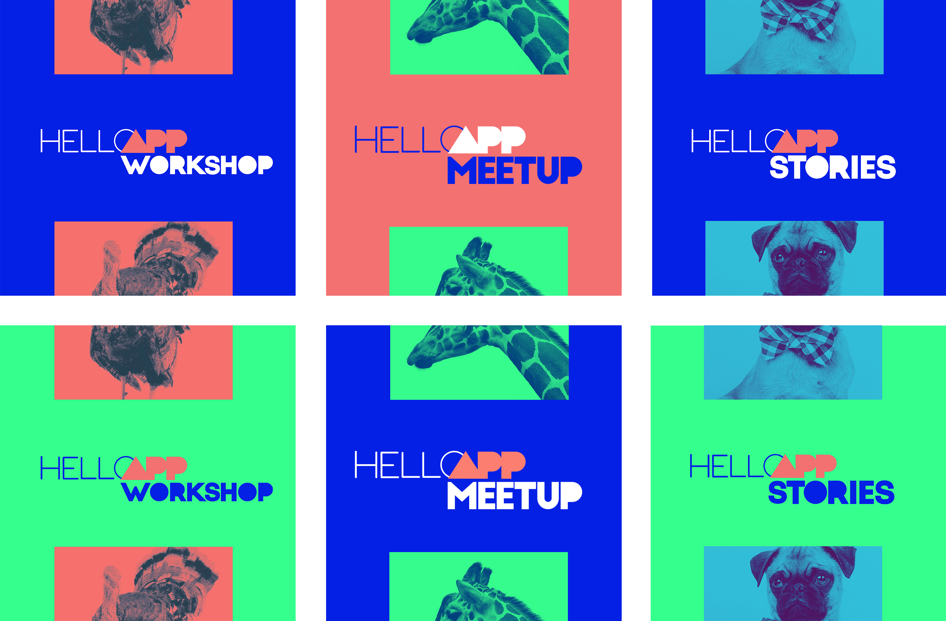 Hello App Event Versions Colours