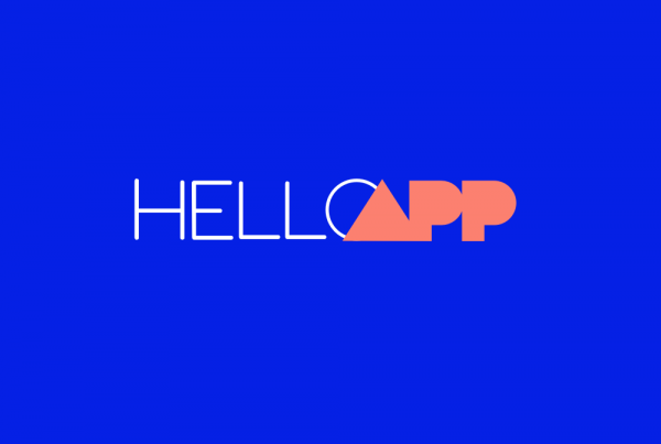Hello App Logo Blue