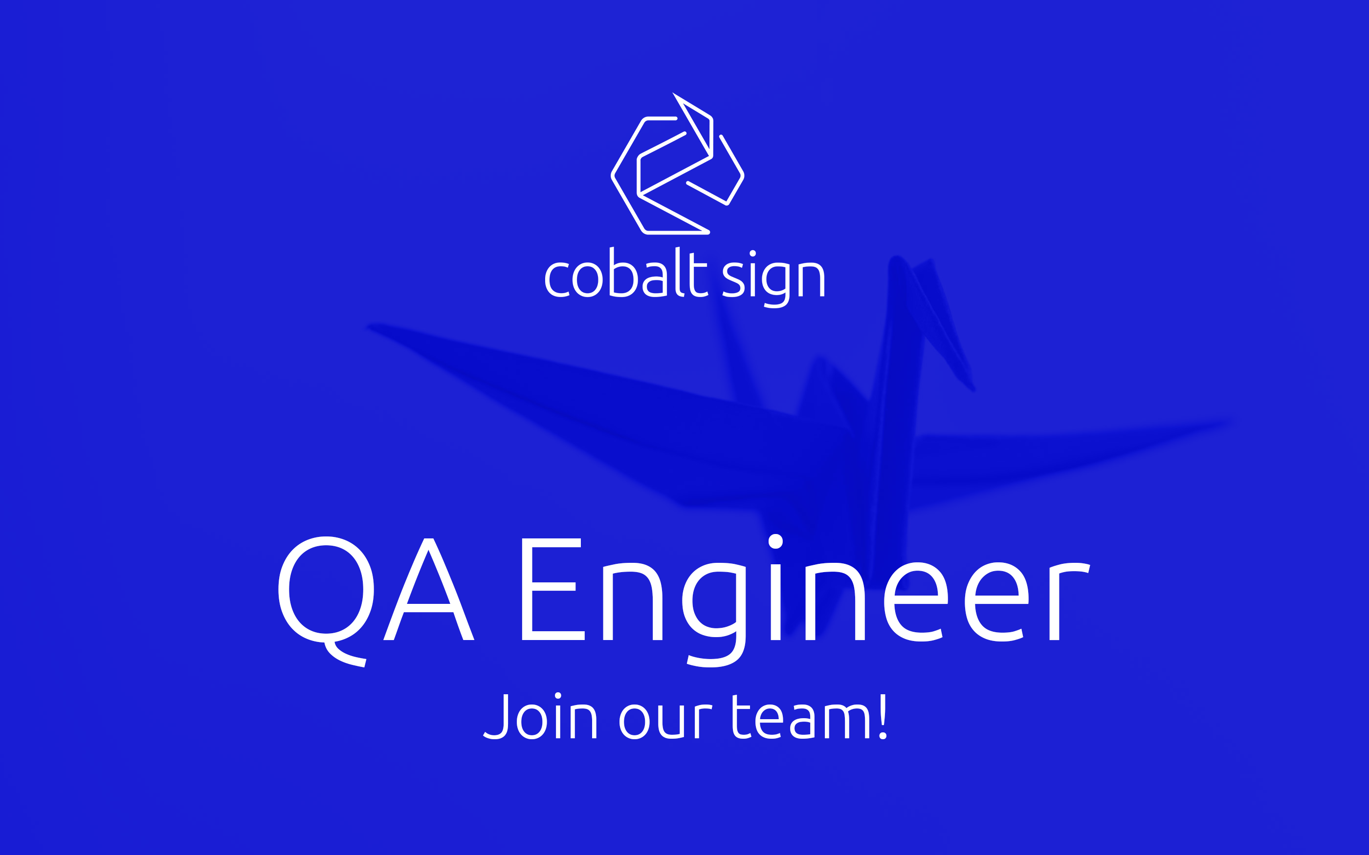 Cobalt Sign QA Engineer