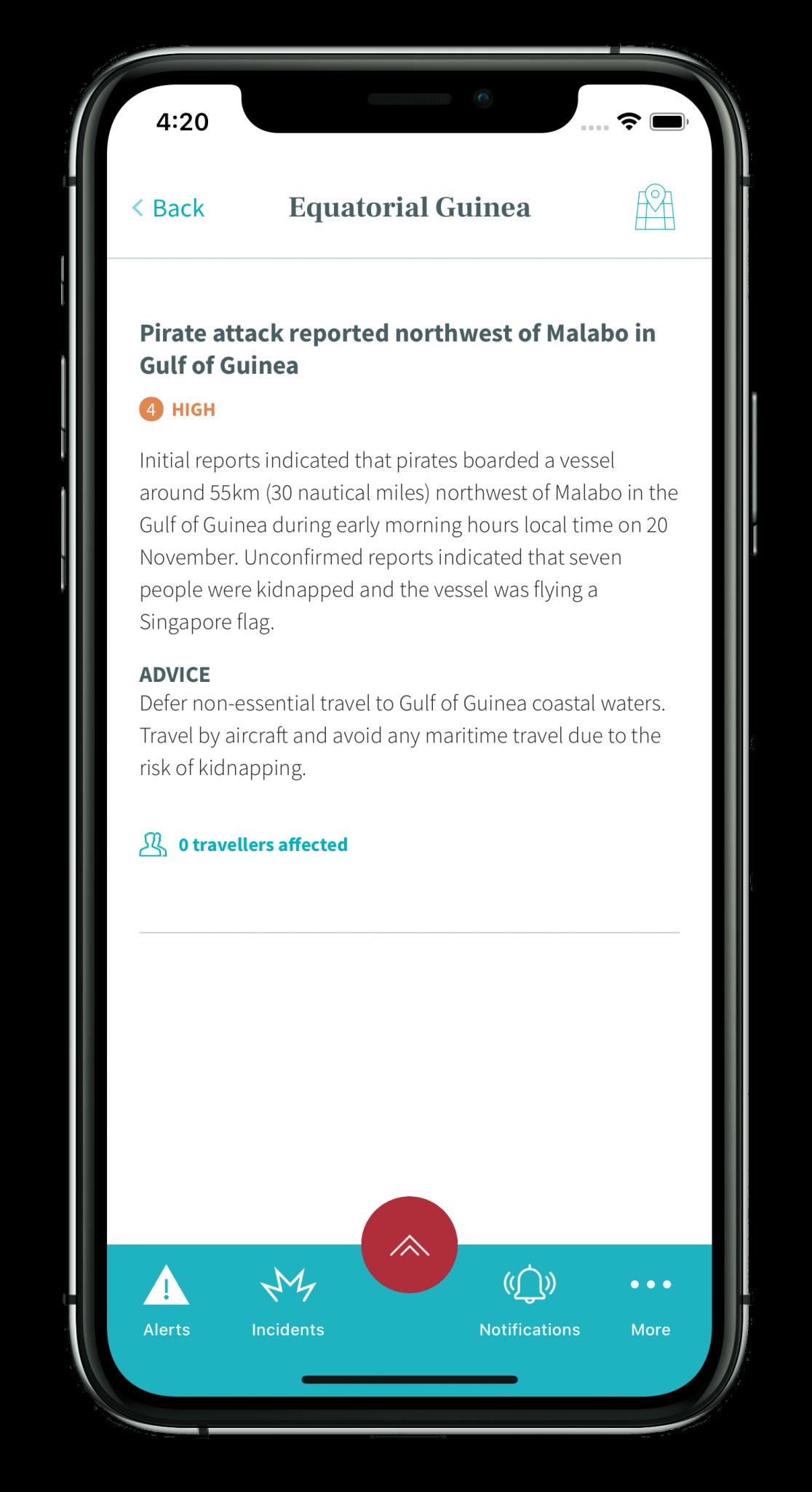 Travel risk assesment app - Cobalt Sign | App Development Company