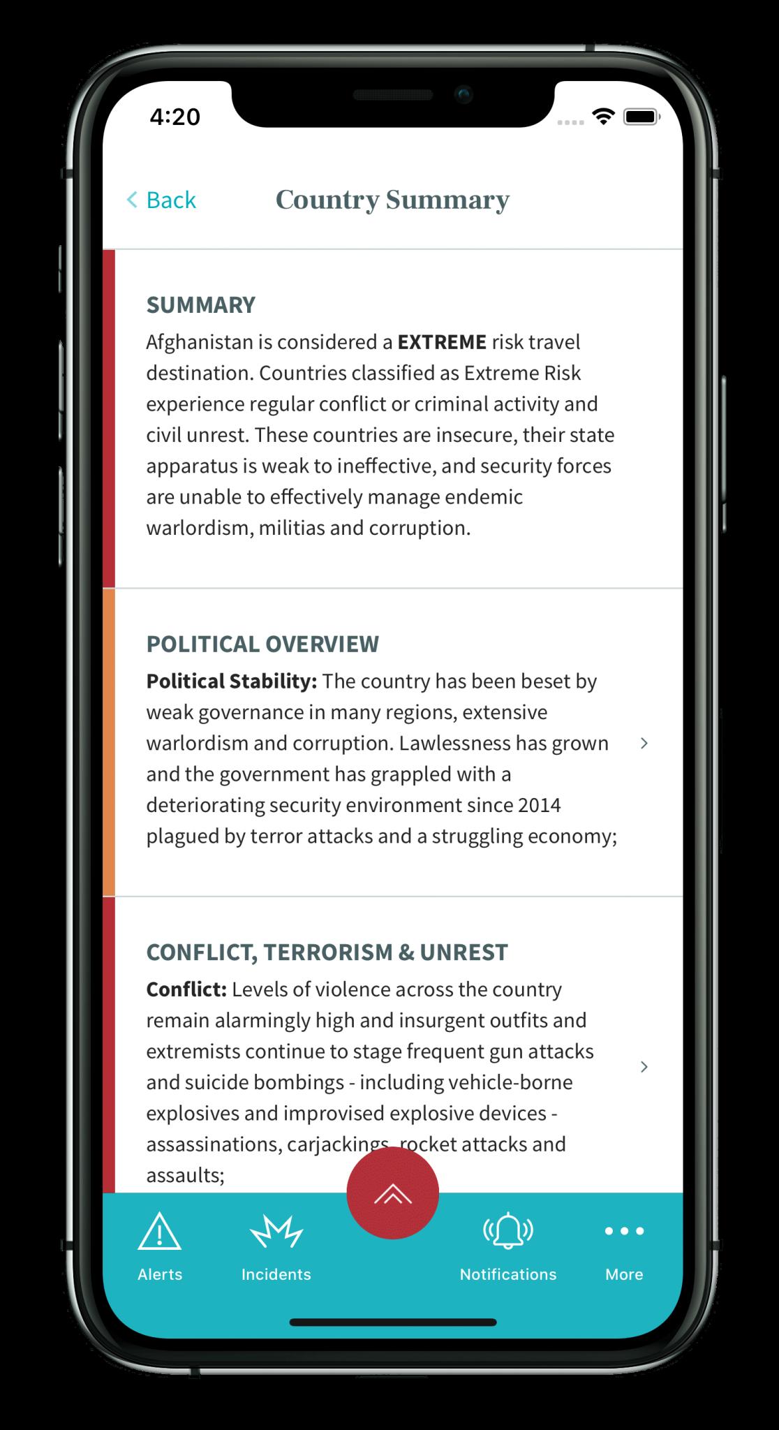 Riskline - Travel risk assesment app
