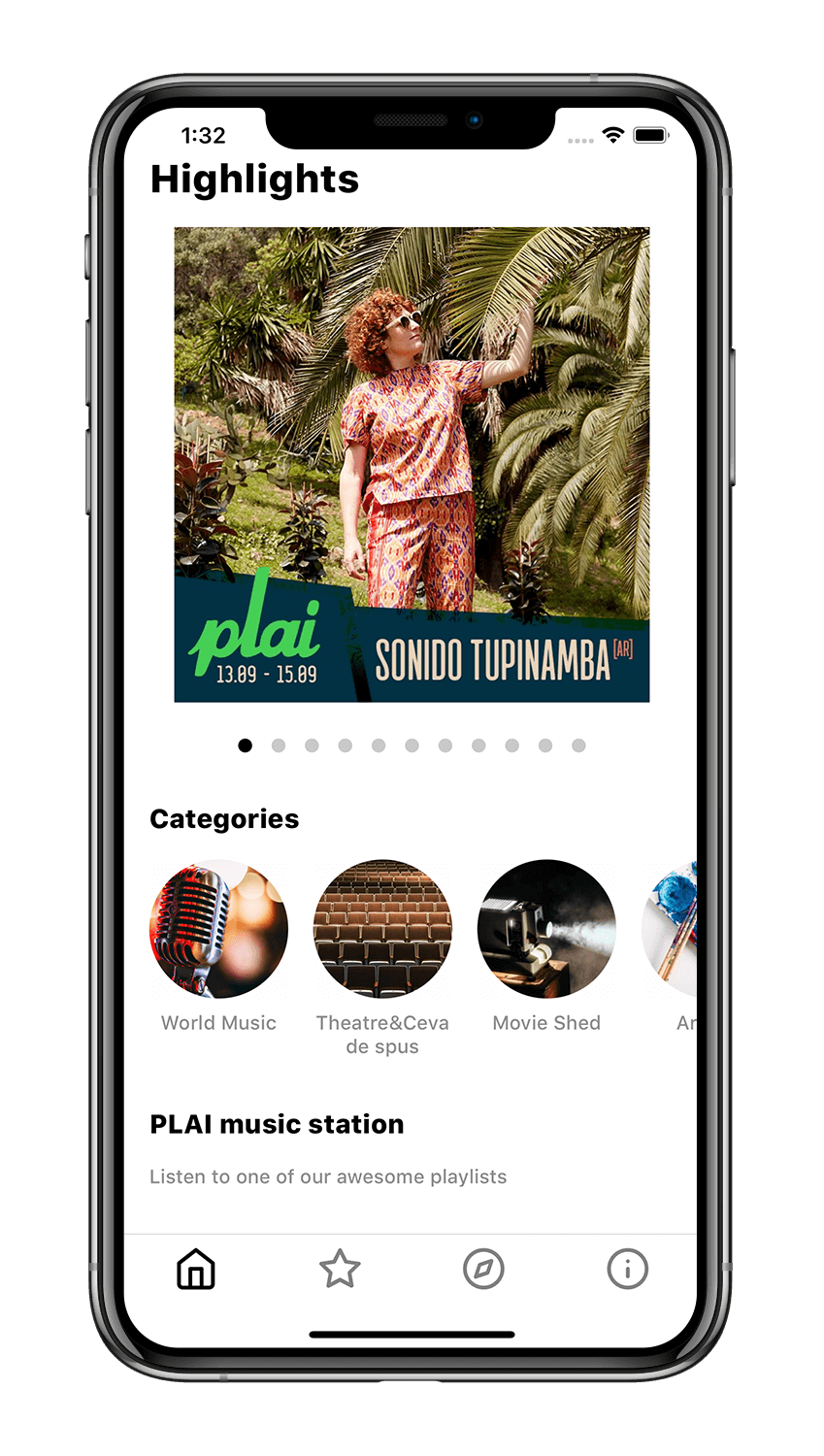 iOS/Android app development internship - PLAI Festival app