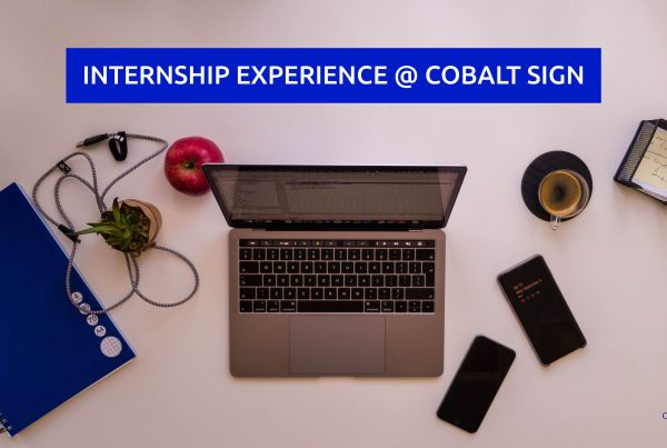 Internship experience @ Cobalt Sign