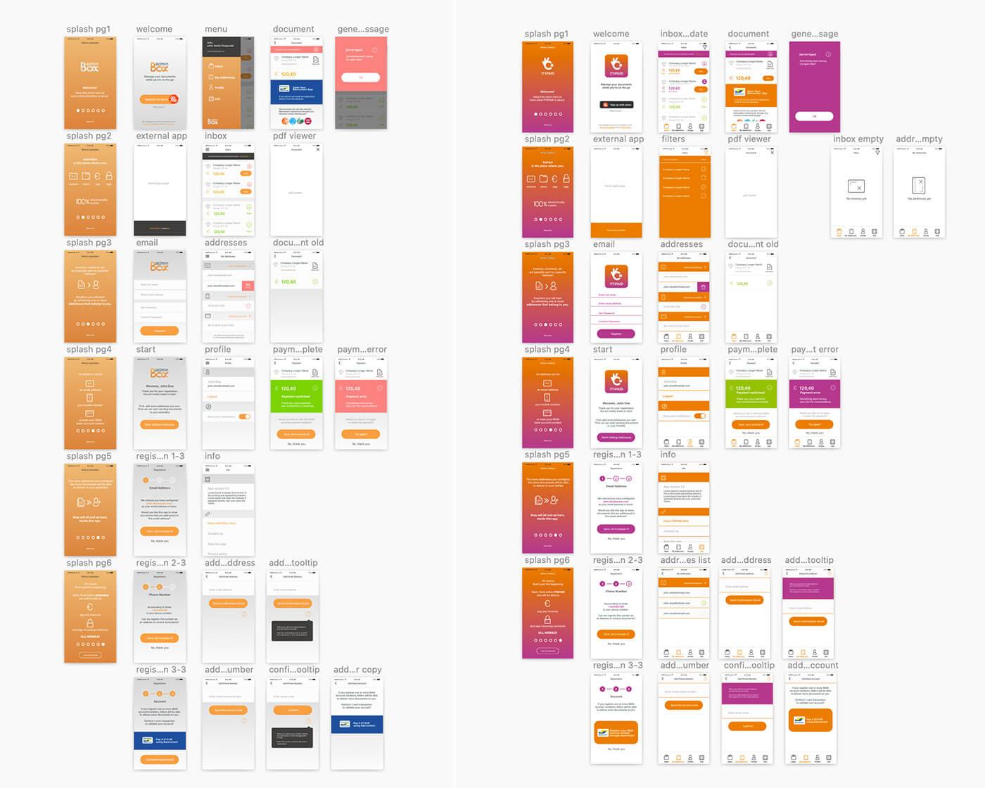 itspaid - initial mvp app design